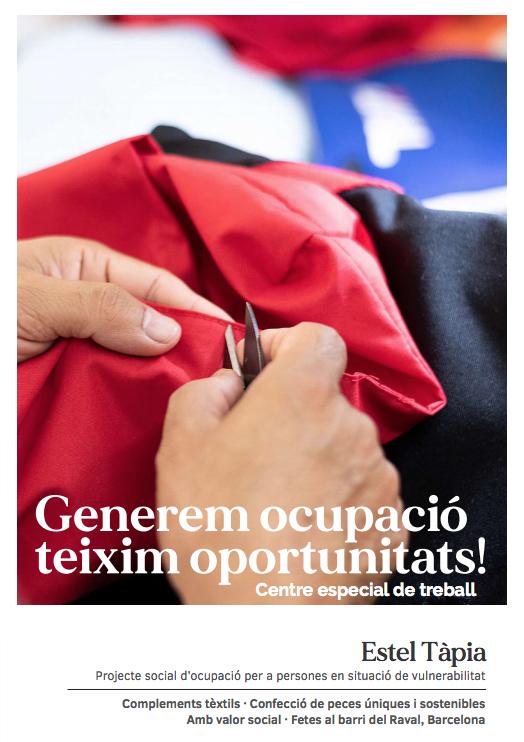 CET Estel Tàpia · Projecte social d'ocupació per a persones en situació de vulnerabilitat